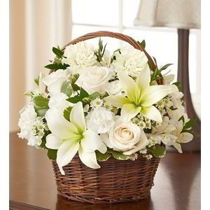 Morristown Florist | Basket of Whites