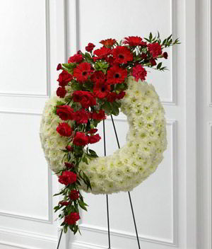 Morristown Florist | Rose Gerber Wreath