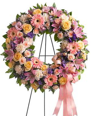 Morristown Florist | Pastel Wreath