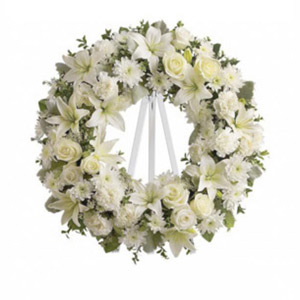 Morristown Florist | White Wreath