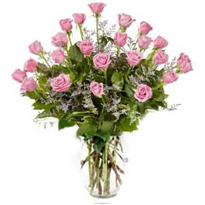 Morristown Florist | 24 Pink Roses