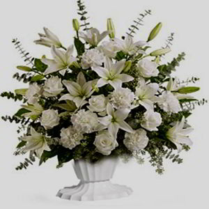 Morristown Florist | All White Sympathy
